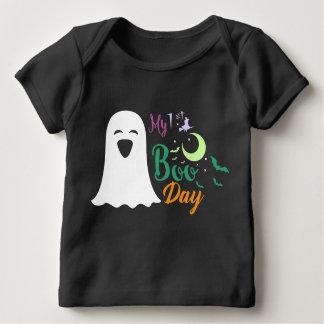 Camiseta Para Bebê Preto assustador do dia da vaia da mulher da bruxa