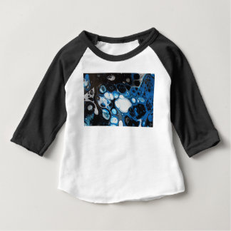 Camiseta Para Bebê Preto & azul borbulha o t-shirt