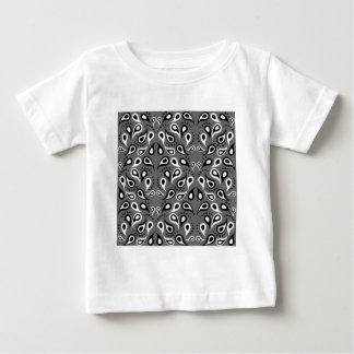 Camiseta Para Bebê Preto do impressão do design do teste padrão de