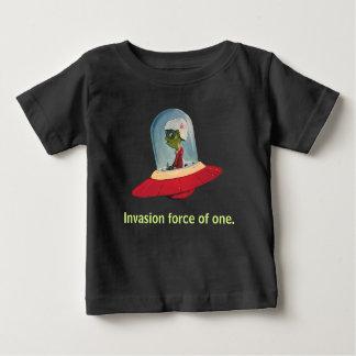 Camiseta Para Bebê Preto do UFO da FORÇA da INVASÃO por Jetpackcorps