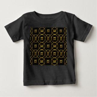 Camiseta Para Bebê Preto e elegante brilhante do teste padrão