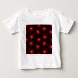 Camiseta Para Bebê Preto vermelho 4 da estrela