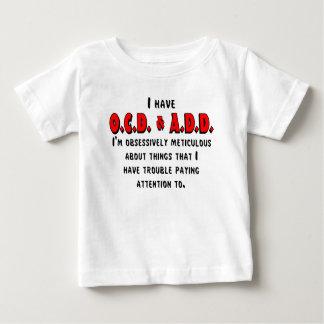 Camiseta Para Bebê Preto/vermelho de OCD-ADD