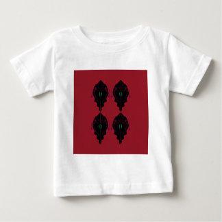 Camiseta Para Bebê Preto vermelho dos ornamento luxuosos