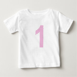 Camiseta Para Bebê Primeiro aniversário
