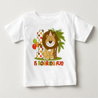 Camiseta Para Bebê Primeiro aniversario bonito do leão