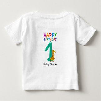 Camiseta Para Bebê Primeiro aniversario do t-shirt do aniversário do