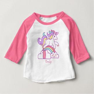 Camiseta Para Bebê Primeiro aniversario do unicórnio