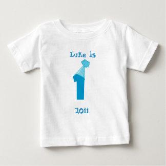 Camiseta Para Bebê Primeiro aniversario - menino