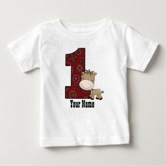 Camiseta Para Bebê Primeiro cavalo do vaqueiro do aniversário