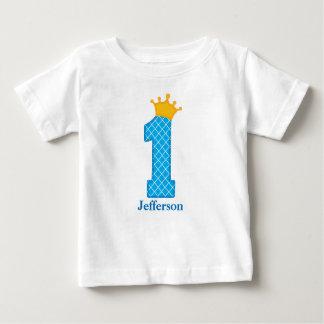 Camiseta Para Bebê Primeiro príncipe Tshirt Personalized do