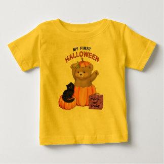Camiseta Para Bebê Primeiro ursinho do Dia das Bruxas