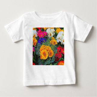 Camiseta Para Bebê prímula no jardim