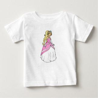 Camiseta Para Bebê Princesa bonita na imagem cor-de-rosa dos
