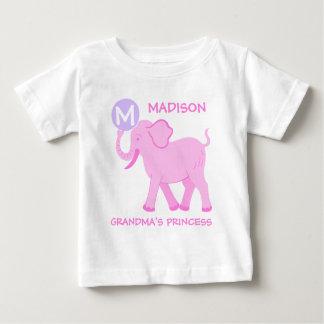 Camiseta Para Bebê Princesa cor-de-rosa das avós da letra do bebé do