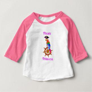 Camiseta Para Bebê Princesa do pirata - t-shirt da luva do bebê 3/4