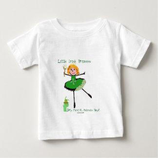 Camiseta Para Bebê Princesa irlandesa pequena - o dia do meu primeiro