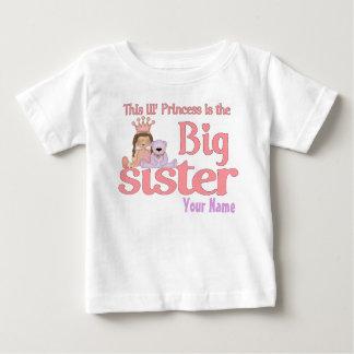 Camiseta Para Bebê Princesa Personalized T-shirt da irmã mais velha