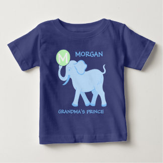 Camiseta Para Bebê Príncipe azul das avós da letra do bebé do circo |