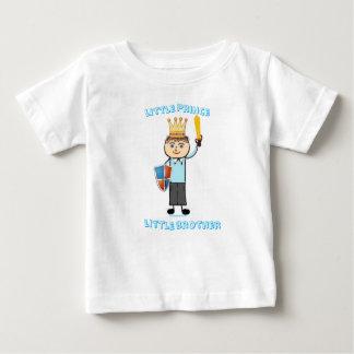 Camiseta Para Bebê Príncipe pequeno irmão mais novo