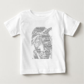 Camiseta Para Bebê Produtos do esboço dos grafites da palavra do