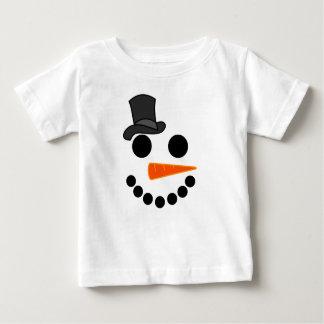 Camiseta Para Bebê Produtos do menino do boneco de neve