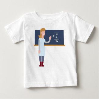 Camiseta Para Bebê Professor de matemática