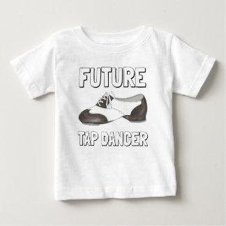 Camiseta Para Bebê Professor futuro da dança dos calçados da torneira