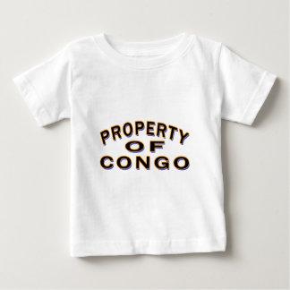 Camiseta Para Bebê Propriedade de Congo