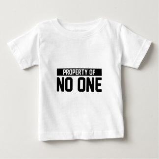 Camiseta Para Bebê Propriedade de ninguém