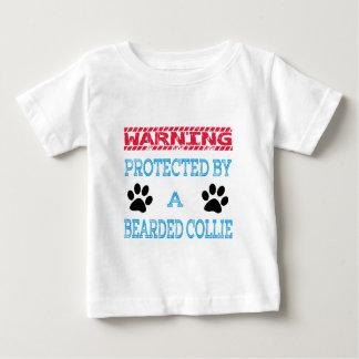 Camiseta Para Bebê Protegido por um cão farpado do Collie