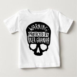 Camiseta Para Bebê Protegido por um vovô do motociclista