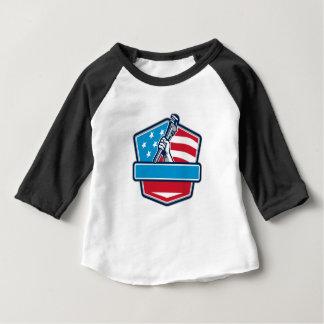 Camiseta Para Bebê Protetor da bandeira dos EUA da chave de tubulação
