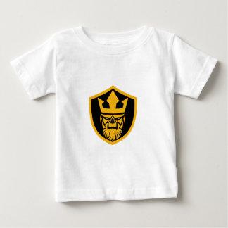 Camiseta Para Bebê Protetor da parte dianteira do crânio de Netuno