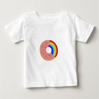 Camiseta Para Bebê Prove a rosquinha do arco-íris