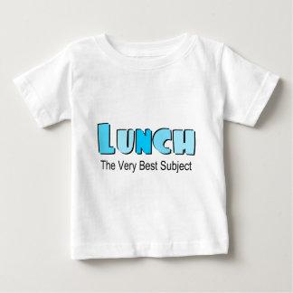 Camiseta Para Bebê Provérbio engraçado sobre o almoço