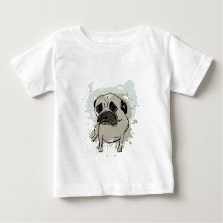 Camiseta Para Bebê Pug do Splatter