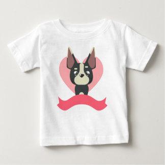 Camiseta Para Bebê Pug Love