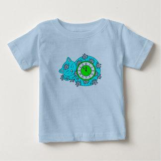 Camiseta Para Bebê Pulso de disparo do gato