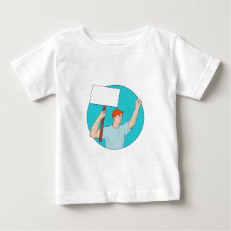 Camiseta Para Bebê Punho de protesto do cartaz do activista do