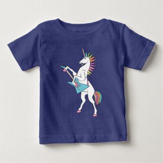 Camiseta Para Bebê punk-rocha-unicórnio-jogar-guitarra-camisa