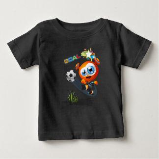 Camiseta Para Bebê Puzzul que joga o futebol no t-shirt do jérsei do