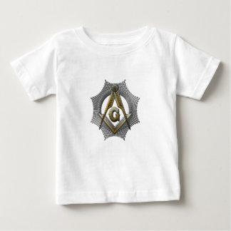 Camiseta Para Bebê Quadrado & compasso