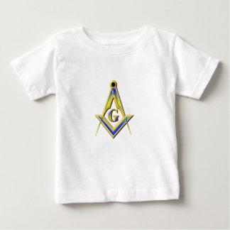 Camiseta Para Bebê Quadrado & compassos do Freemason