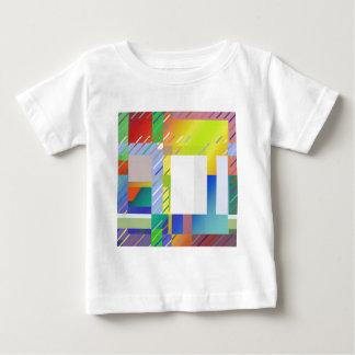 Camiseta Para Bebê Quadrados abstratos