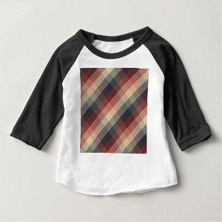 Camiseta Para Bebê Quadrados da cor