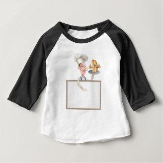 Camiseta Para Bebê Quadro indicador do cozinheiro chefe dos desenhos