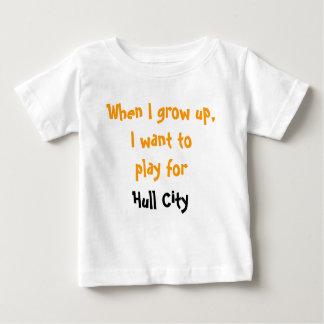 Camiseta Para Bebê Quando eu cresço acima, eu quero jogar para a