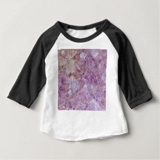 Camiseta Para Bebê Quartzo de cristal violeta Pastel