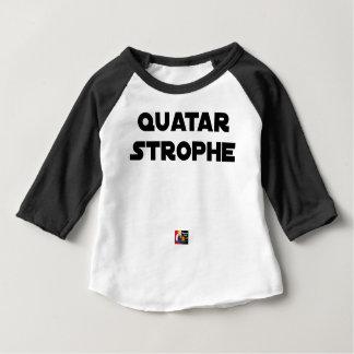 Camiseta Para Bebê QUATAR ESTROFE - Jogos de palavras - François